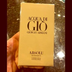 New in box Armani Absolu parfum